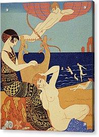 La Bague Symbolique Acrylic Print by Georges Barbier