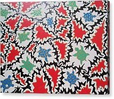 Acrylic Print featuring the painting La Bandiera Di Tristezza  by Beth Akerman