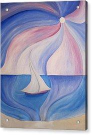 La Barca A Vela Acrylic Print by Alberto V  Donati