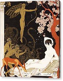 La Belle Helene Acrylic Print by Georges Barbier
