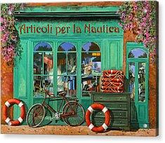 La Bicicletta Rossa Acrylic Print
