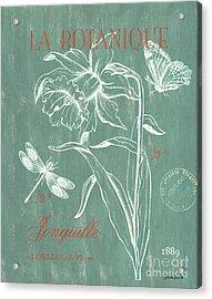 La Botanique Aqua Acrylic Print by Debbie DeWitt
