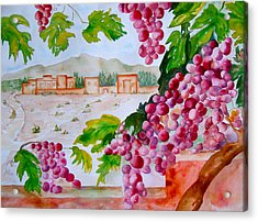 Acrylic Print featuring the painting La Casa Del Vino by Sharon Mick