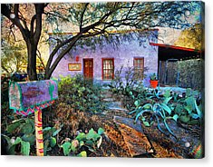 Acrylic Print featuring the photograph La Casa Lila by Barbara Manis
