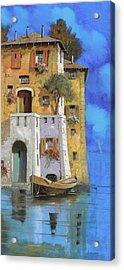 La Casa Sull'acqua Acrylic Print by Guido Borelli