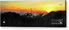 la Casita Playa Hermosa Puntarenas Costa Rica - Sunset A Panorama Acrylic Print by Felipe Adan Lerma