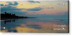 la Casita Playa Hermosa Puntarenas - Sunrise One - Painted Beach Costa Rica Panorama Acrylic Print