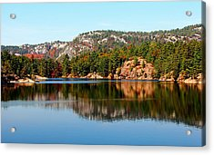 Acrylic Print featuring the photograph La Cloche Mountain Range by Debbie Oppermann