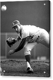 L.a. Dodgers Pitcher Sandy Koufax, 1965 Acrylic Print by Everett