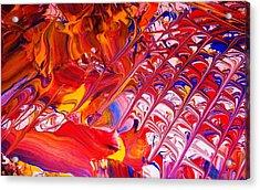 La Donna-detail Acrylic Print by Adolfo hector Penas alvarado