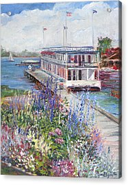 Acrylic Print featuring the painting La Duchesse by Jan Byington