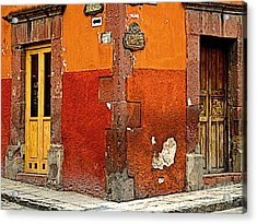 La Esquina 2 Acrylic Print by Mexicolors Art Photography