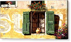 la finestra di Sue Acrylic Print by Guido Borelli