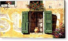 la finestra di Sue Acrylic Print by Guido Borelli