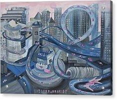 La Freeway Acrylic Print by Ione Citrin