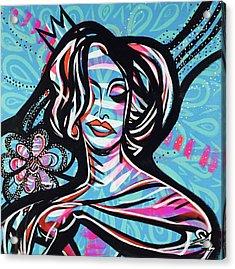 La Gagita With Flower Acrylic Print by Gdm