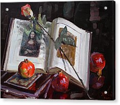 La Gioconda  Acrylic Print by Ylli Haruni