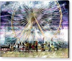 Flash Mob,k-pop, 2ne1 Acrylic Print