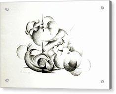 La Guerre Des Bulles Acrylic Print by Muriel Dolemieux