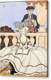 La Guirlande Acrylic Print by Georges Barbier