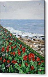 Acrylic Print featuring the painting La Jolla Beach, San Diego by Ray Khalife