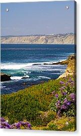 La Jolla Cliffs Acrylic Print by Keith Ducker