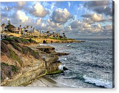 Acrylic Print featuring the photograph La Jolla Coastline by Eddie Yerkish
