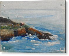 La Jolla Cove 007 Acrylic Print by Jeremy McKay