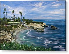 La Jolla Cove Acrylic Print by Lisa Reinhardt