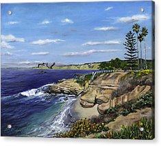 La Jolla Cove West Acrylic Print by Lisa Reinhardt