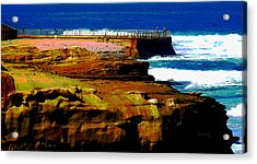 La Jolla Rocks 2 Wall Acrylic Print by Russ Harris