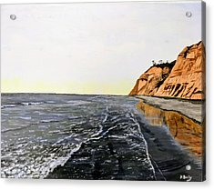 Acrylic Print featuring the painting La Jolla Shoreline by Kevin Daly