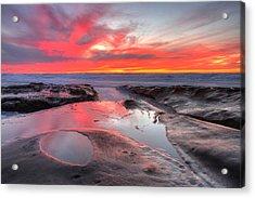 Acrylic Print featuring the photograph La Jolla Tidepools At Sunset by Nathan Rupert