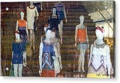 La Ladies Acrylic Print by Bob Senesac