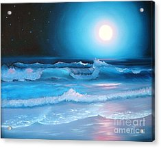 La Luna  My Seascape Collection Acrylic Print