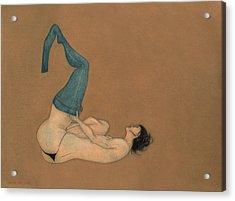 La Lutte Acrylic Print by Antonio Ortiz