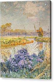 La Lys Acrylic Print by Emile Claus