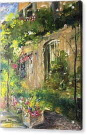 La Maison Est O Le Coeur Est Home Is Where The Heart I Acrylic Print
