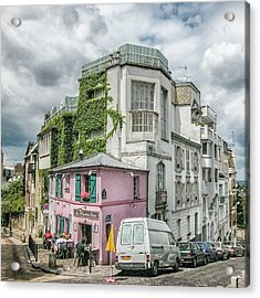Acrylic Print featuring the photograph La Maison Rose by Alan Toepfer