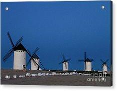 Acrylic Print featuring the photograph La Mancha Windmills by Heiko Koehrer-Wagner