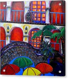 La Mansion Del Rio Acrylic Print by Patti Schermerhorn