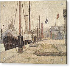 La Maria At Honfleur Acrylic Print by Georges Pierre Seurat