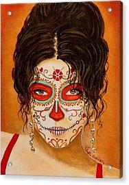 La Muerte Elegante Acrylic Print by Al  Molina