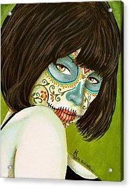 La Muerte En Verde Acrylic Print by Al  Molina