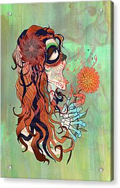 La Muerte Acrylic Print by Kate Collins