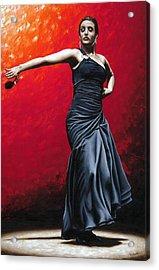 La Nobleza Del Flamenco Acrylic Print by Richard Young