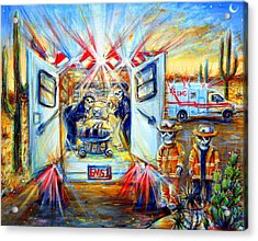 Acrylic Print featuring the painting La Paramedica by Heather Calderon