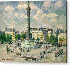 La Place De La Bastille Acrylic Print by Celestial Images