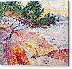 La Plage De Saint-clair Acrylic Print by Henri-Edmond Cross