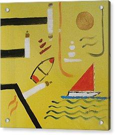 La Playa  Acrylic Print by Roger Cummiskey